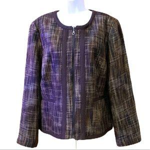 Axcess Cognac Tweed Style Blazer